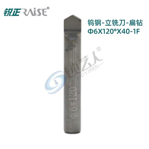 锐正RZ-DW3120-钨钢-立铣刀-扁钻 φ6x120°x40-1F 立式钥匙机铣刀  竞技 文兴