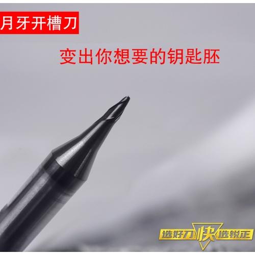 锐正RZ-月牙开槽刀2-钨钢-φ0.8x15°xD6x40x2F 小规格